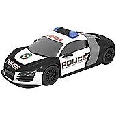SCALEXTRIC Digital Slot Car Audi R8 Police Car - flashing lights and siren