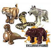 Deadly 60 Micro Figures - Bear, Lioness, Cobra, Wolf, Walrus
