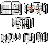 Milo & Misty Heavy Duty Playpen. 8 Panel Folding & Portable Outdoor Cage 80x80cm