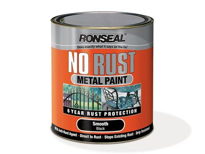 Ronseal No Rust Metal Paint Smooth Silver 750ml