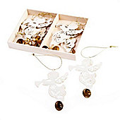 Cream Angel Christmas Tree Decorations Set