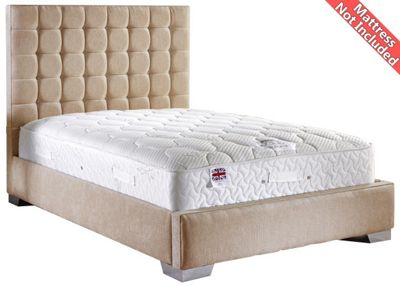 ValuFurniture Coppella Chenille Fabric Divan Bed Frame - Mink - Single - 3ft