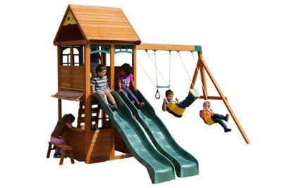 Selwood Mint Climbing Frame - Swings, Slides & Lower Playhouse