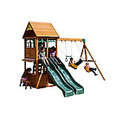 Selwood Mint Climbing Frame - Swings, Slides & Lower Playhouse