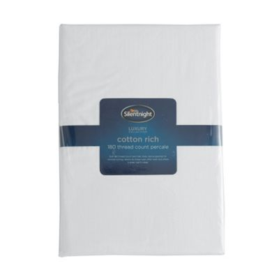 Silentnight Cotton Rich Fitted Sheet - White - Single