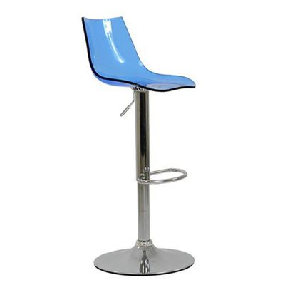 Amazon Gel Acrylic Blue Bar Stool