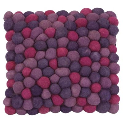 The Ultimate Rug Co. Rocks Floor Cushion Plum
