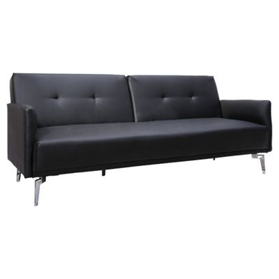 Leader Lifestyle Sven Sofa Bed - Luxurious Black Faux Leather