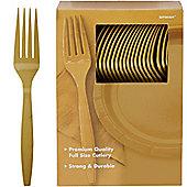 Gold Plastic forks - 100 Pack