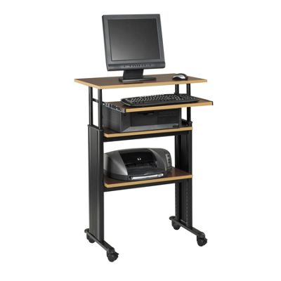 Safco MUV Stand Up Workstation Height Adjustable in Cherry