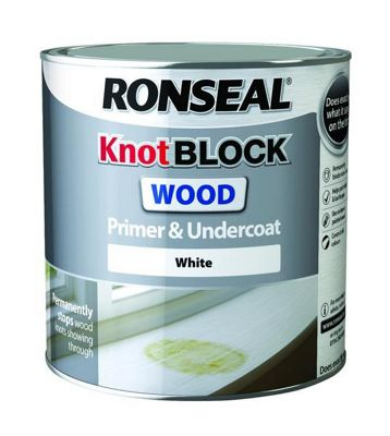 Ronseal Knot Block Wood Primer and Undercoat - White - 250ml