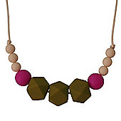 Num Num Teething Necklace Gwyneth (Green/Pink/Cream)