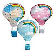 "Paper Lantern 14"" Hot Air Balloon Lamp Light Shade Blue"