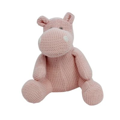 Pink Knitted Hippo