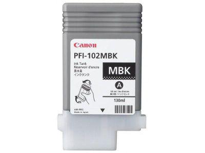 Canon PFI-102MBK Ink Cartridge (130ml) - Matte Black