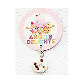 Children's White Iced Doughnut Clip on Charm