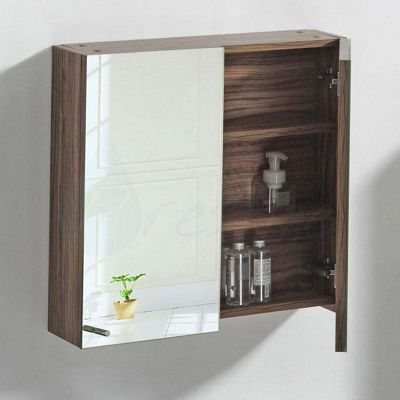 Prestige Oslo Two Door Mirrored Bathroom Cabinet 650mm High X 600mm Wide Light