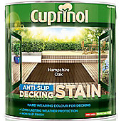Cuprinol Anti Slip Decking Stain - Hampshire Oak - 2.5 Litre