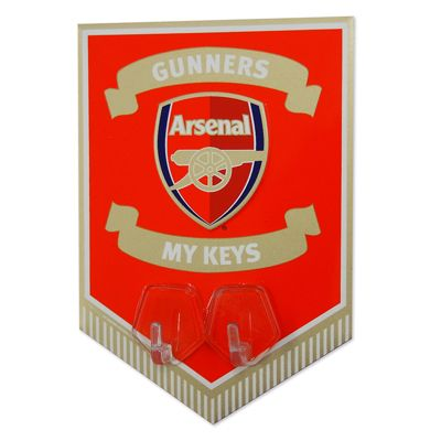 Arsenal FC Metal Key Hook Sign