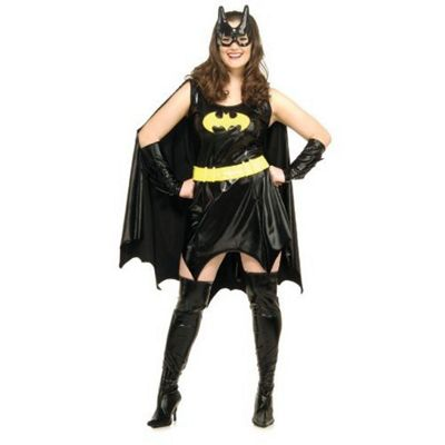 Buy Rubies Fancy Dress Batgirl Costume Adult Plus Size Fits
