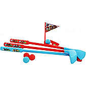 Kids Mini Golf Set with 4 Balls, 3 Clubs + Hole and Flag