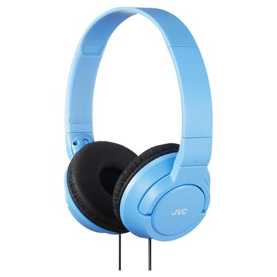 JVC On-ear Black JVC HA-S180 Light Blue Deep Bass