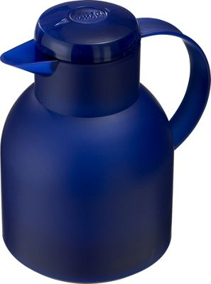 EMSA Samba Quick Press Vacuum Jug, 1.0L, Dark Blue