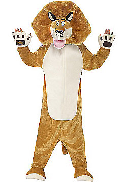 Madagascar Alex The Lion Costume - Brown & Cream