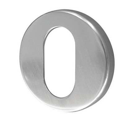 Jedo Satin Anodised Aluminium 50Mm - Oval Profile Concealed Aluminium Escutcheon