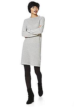 JDY Ripple Knit Jumper Dress - Grey