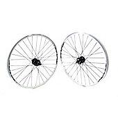 """Weinmann Mach1 26"""" QR Cass Disc / V White Wheelset"""
