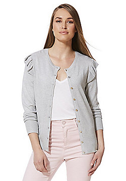 F&F Frill Trim Cardigan with As New Technology - Grey