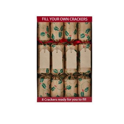Robin Reed Crackers - Fill Your Own Holly and Gift Tag - 12 Inch - 8 Pack