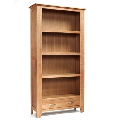 Sherwood Oak Large 1 Drawer Bookcase - Bookcase