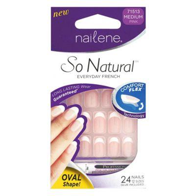 Nailene So Natural Artificial Nails Ovals 71513