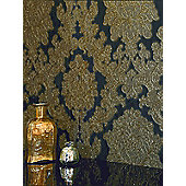 Vicenza Damask Wallpaper - Black - Arthouse 270405