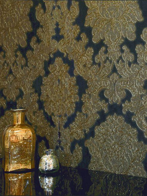 Vicenza Damask Wallpaper - Black - Arthouse 270405