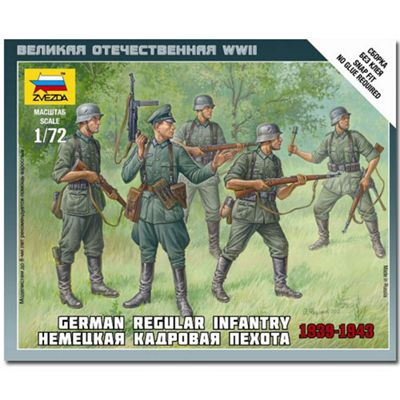 Zvezda - German Regular Infantry 1939-1943 - Scale 1/72 6178
