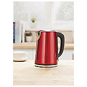 Tesco JKSSR16 Red Stainless Steel Kettle New