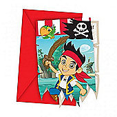 Jake and the Never Land Pirates 6 Pack Party Invitations Accessories