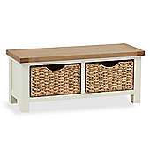Daymer Cream Small Bench With Baskets