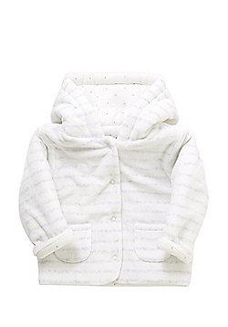 F&F Striped Velour Hooded Jacket - Cream