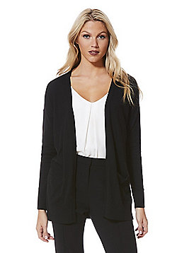 F&F Open Front Long Line Cardigan - Black