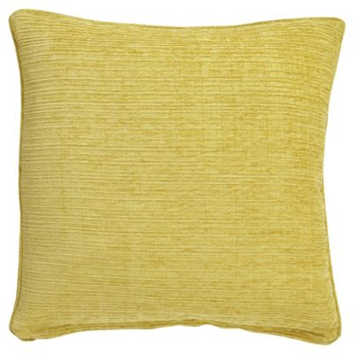 buy tesco flat chenille yellow 50x50 cushion from our. Black Bedroom Furniture Sets. Home Design Ideas