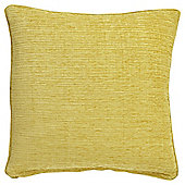 Tesco Flat Chenille Yellow 50x50 Cushion