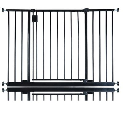 Safetots Extra Wide Hallway Gate Black 103cm - 109cm