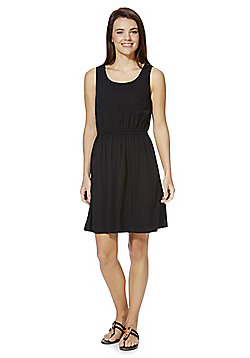 Only Cage Panel Sleeveless Dress - Black
