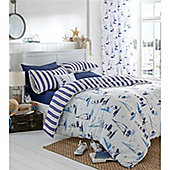 Catherine Lansfield Home Padstow Cotton Rich Fully Lined Curtains 66x72 inches - Nautical