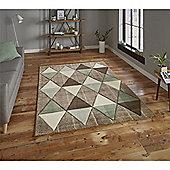Brooklyn Triangles Rug - Green