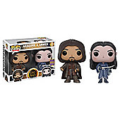 Funko Pop SDCC Lord of the Rings Aragorn & Arwen Twin Pack